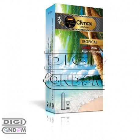 کاندوم-کلایمکس-تاخیری-مضاعف-با-عصاره-میوه-های-گرمسیری-12-تایی-Climax-Tropical-دیجی-کاندوم