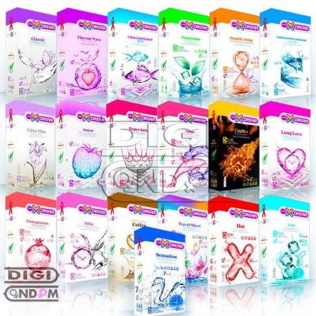 پکیج کامل کاندوم های ایکس دریم 12 تایی XDREAM 12pcs Package