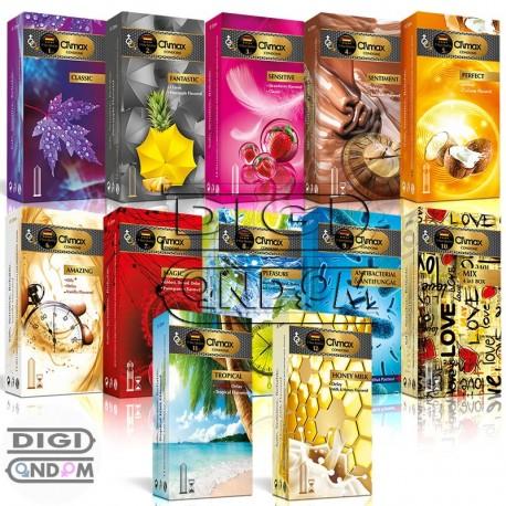 پکیج کامل کاندوم های کلایمکس 12 تایی CLIMAX 12pcs Package