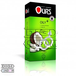 کاندوم اورز 12 تایی بسیار چرب نارگیلی +OURS OILY