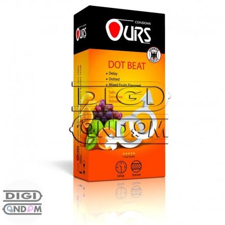 کاندوم-اورس-12-تایی-تاخیری-خاردار-و-میوه-ای-OURS-DOT-BEAT---دیجی-کاندوم