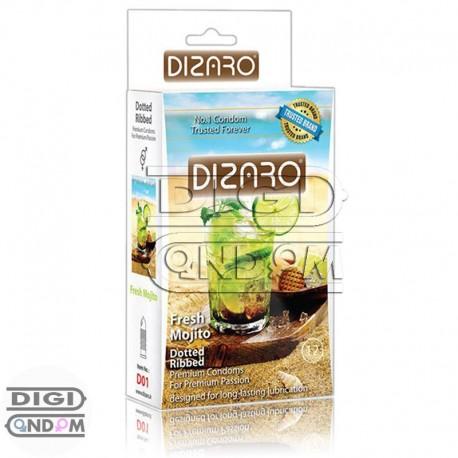 کاندوم-دیزارو-12-تایی-خاردار-و-شیاردار-با-اسانس-موهیتوی-تازه-DIZARO-Fresh-Mohito-خرید-در-دیجی-کاندوم