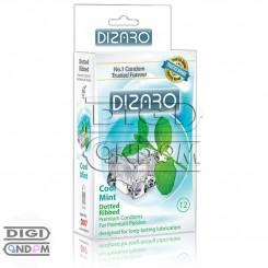 کاندوم دیزارو 12 تایی خاردار و شیاردار خنک کننده نعنائی DIZARO Cool Mint