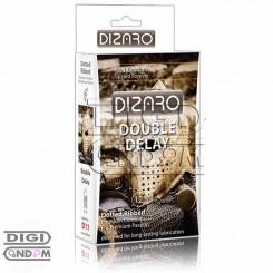 کاندوم دیزارو 12 تایی تاخیری دو برابر خاردار و شیاردار DIZARO Double Delay Dotted Ribbed