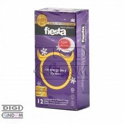 کاندوم فیستا 12 تایی انرژی تاخیری خنک کننده fiesta Ice energy delay
