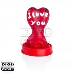 کاندوم عروسکی با طرح قلب LOVE FUNDOM