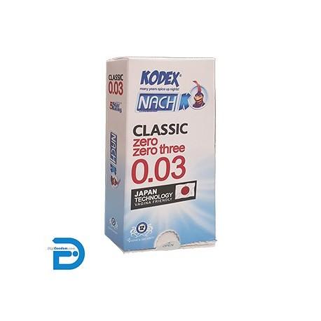 خرید کاندوم ناچ کدکس 12 تایی فوق نازک زیرو زیرو تری Nach Kodex Classic 0.03 از دیجی کاندوم