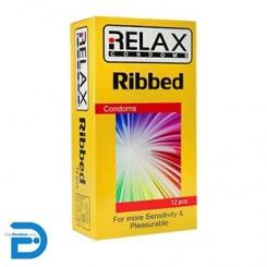 کاندوم ریلکس 12 تایی شیاردار ساده RELAX RIBBED