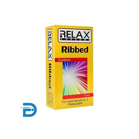 خرید کاندوم ریلکس 12 تایی شیاردار ساده RELAX RIBBED دیجی کاندوم