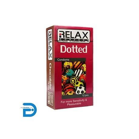 خرید کاندوم ریلکس 12 تایی خاردار ساده RELAX DOTTED دیجی کاندوم