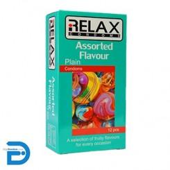 کاندوم ریلکس 12 تایی میوه ای RELAX-ASSORTD FLAVOUR