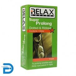 کاندوم ریلکس 12 تایی سوپر پرولانگ پلاس RElAX - SUPER PROLONG Plus