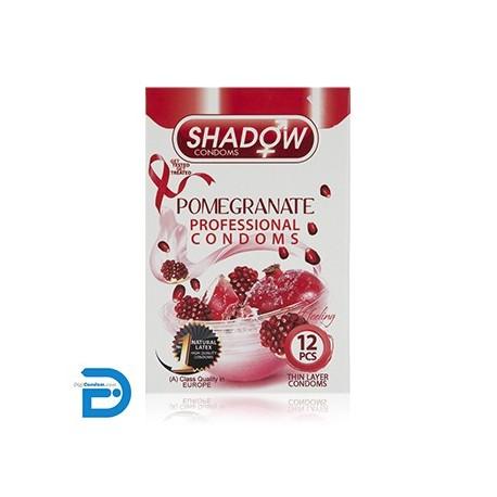 خرید کاندوم شادو 12 تایی تنگ کننده اناری SHADOW Pomegranate از دیجی کاندوم