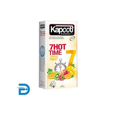 خرید کاندوم کاپوت 12 تایی 7 کاره گرم تروپیکال تویست Kapoot 7 HOT TIME TROPICAL TWIST از دیجی کاندوم