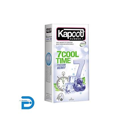 خرید کاندوم کاپوت 12 تایی7 کاره سرد کول تایم Kapoot 7 COOL TIME PASSION BERRY Condom از دیجی کاندوم