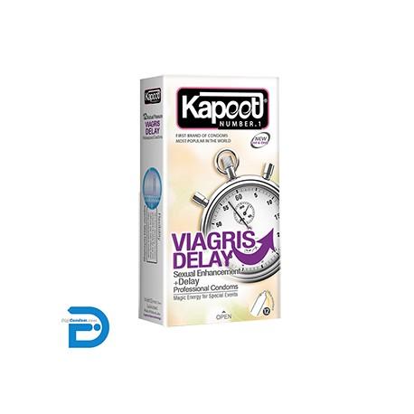 خرید کاندوم کاپوت 12 تایی ویاگریس دیلی Kapoot VIAGRIS DELAY از دیجی کاندوم