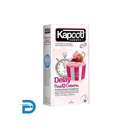 خرید کاندوم کاپوت 12 تایی تاخیری فروتی کرم Kapoot Delay Fruity Cream از دیجی کاندوم