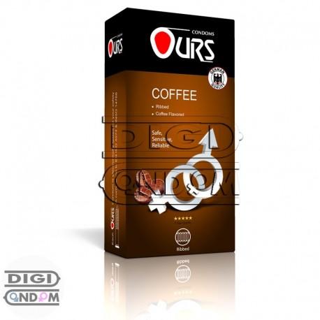 کاندوم-اورس-12-تایی-شیاردار-با-رایحه-قهوه--OURS-COFFEE---دیجی-کاندوم