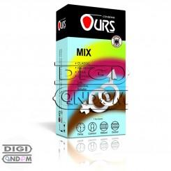 کاندوم اورس 12 تایی میکس کلاسیک موهیتو تنگ کننده و قهوه OURS MIX