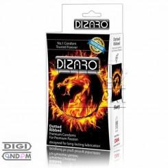 کاندوم دیزارو 12 تایی خاردار و شیاردار گرم کننده آتشی DIZARO Fiery