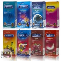 پکیج کامل کاندوم های اپتیمکس 12 تایی OPTIMAX 12pcs Package