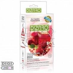 کاندوم دیزارو 12 تایی خاردار و شیاردار تنگ کننده DIZARO Pomegranate