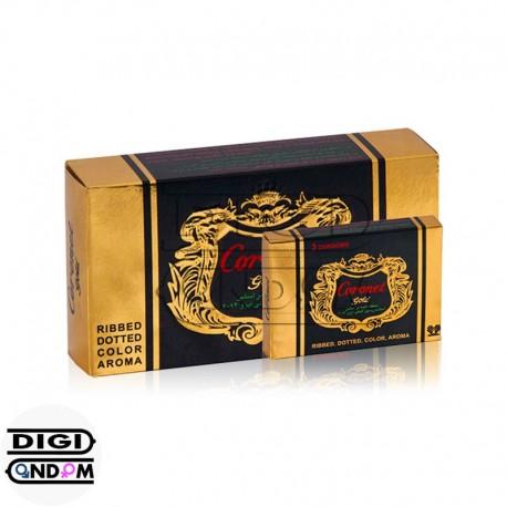 خرید کاندوم کورونت 12 تایی خاردار شیاردار طلایی CORONET Gold از دیجی کاندوم