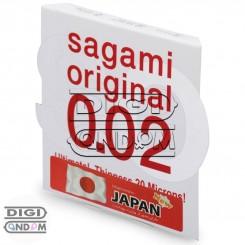 کاندوم پلی اورتان ساگامی سایز نرمال تک عددی Sagami Original 0.02