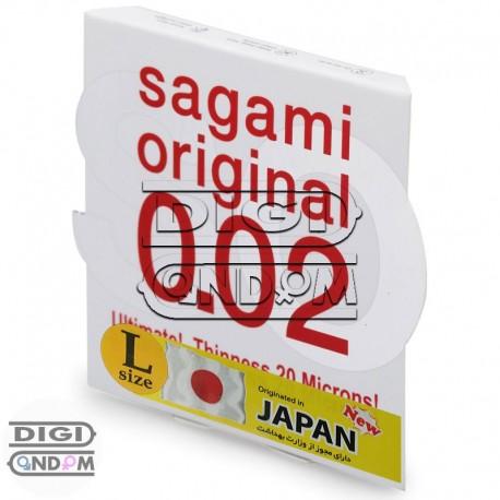 کاندوم پلی اورتان ساگامی سایز لارج تک عددی Sagami Original 0.02