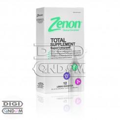 کاندوم زنون 12 تایی تقویت نعوظ توتال ساپلمنت Zenon TOTAL SUPPLEMENT