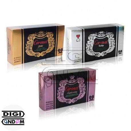 خرید پکیج کامل کاندوم های کورونت 12 تایی CORONET 12pcs Package از دیجی کاندوم