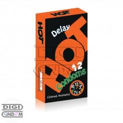 کاندوم هات 12 تایی تاخیری رنگی HOT Delay Colored