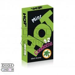 کاندوم هات 12 تایی خنک کننده نعنائی HOT Mint Aroma