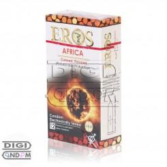 خرید کاندوم اروس 12 تایی آفریقا رنگی میوه ای EROS AFRICA Colored Flavored از دیجی کاندوم