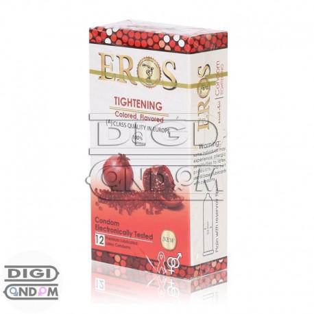 خرید کاندوم اروس 12 تایی تنگ کننده رنگی میوه ای EROS TIGHTENING Colored Flavored از دیجی کاندوم