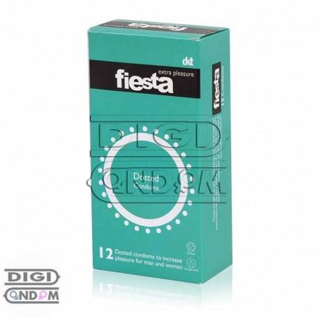 خرید کاندوم فیستا 12 تایی خاردار داتد fiesta Dotted از دیجی کاندوم