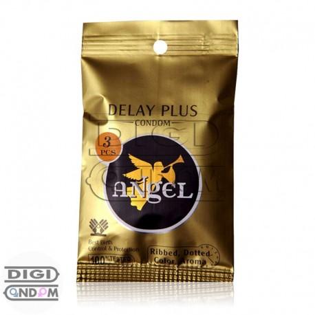 خرید کاندوم انجل 3 تایی فوق تاخیری، خاردار و شیاردار معطر ANgEL DELAY PLUS از دیجی کاندوم