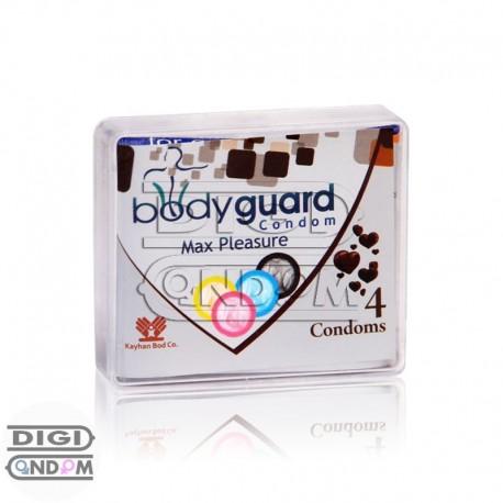 خرید کاندوم بادی گارد 4 تایی خاردار و شیاردار اوج لذت bodyguard Max Pleasure از دیجی کاندوم