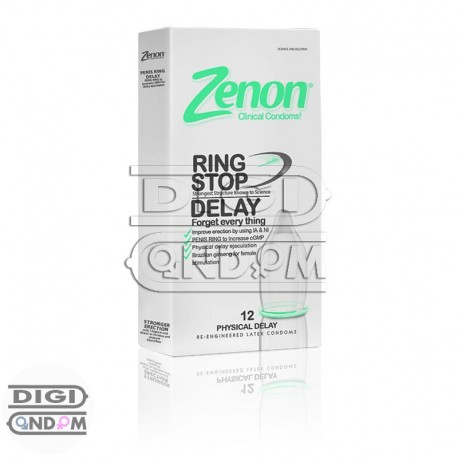 خرید کاندوم زنون 12 تایی تاخیری فیزیکی رینگ استاپ Zenon RING STOP DELAY از دیجی کاندوم
