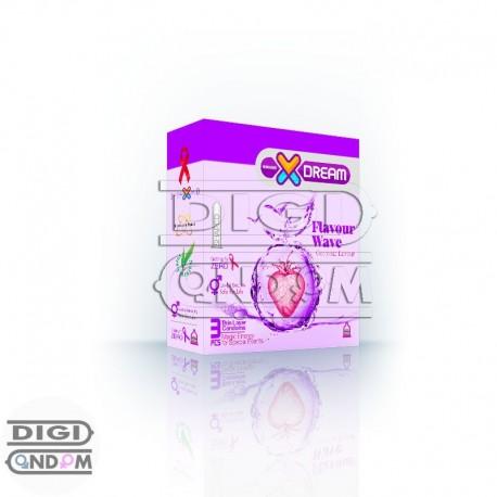 خرید-کاندوم-ایکس-دریم-3-تایی-میوه-ایXDREAM-Flavour-wave-از-فروشگاه-دیجی-کاندوم